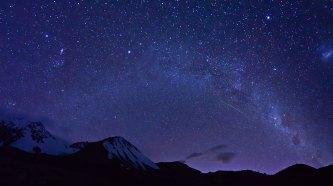 Milky Way before the dawn, Cameron Valley, Ashburton Lakes, Canterbury, New Zealand